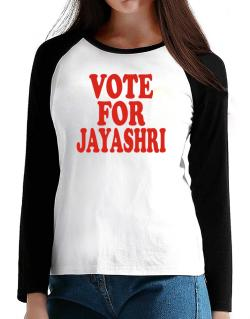 Vote For Jayashri T-Shirt - Raglan Long Sleeve-Womens