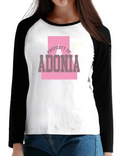 Property Of Adonia T-Shirt - Raglan Long Sleeve-Womens