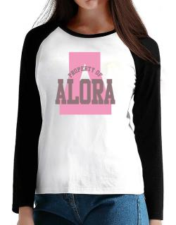 Property Of Alora T-Shirt - Raglan Long Sleeve-Womens