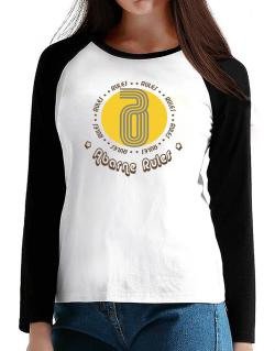 Abarne Rules T-Shirt - Raglan Long Sleeve-Womens