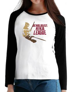 Oenologist Ninja League T-Shirt - Raglan Long Sleeve-Womens