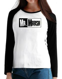 Mr. Marsh T-Shirt - Raglan Long Sleeve-Womens