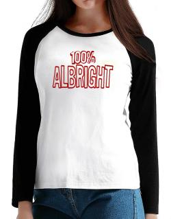 100% Albright T-Shirt - Raglan Long Sleeve-Womens