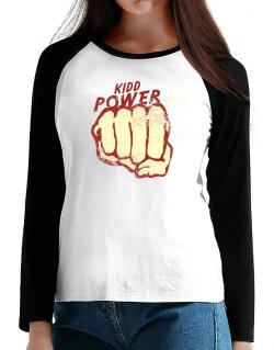Kidd Power T-Shirt - Raglan Long Sleeve-Womens