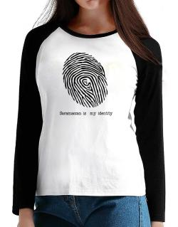 Saramaccan Is My Identity T-Shirt - Raglan Long Sleeve-Womens