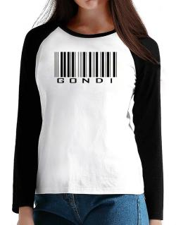 Gondi Barcode T-Shirt - Raglan Long Sleeve-Womens