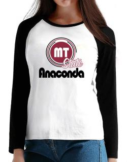 Anaconda - State T-Shirt - Raglan Long Sleeve-Womens