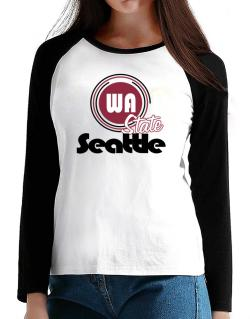 Seattle - State T-Shirt - Raglan Long Sleeve-Womens