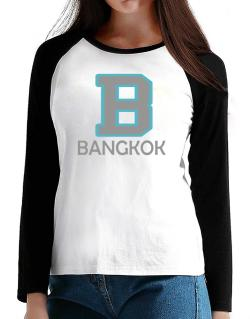 """ Bangkok - Initial "" T-Shirt - Raglan Long Sleeve-Womens"