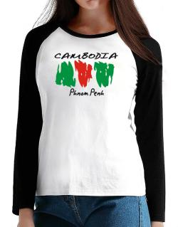 Brush Phnom Penh T-Shirt - Raglan Long Sleeve-Womens