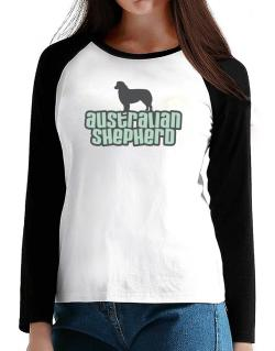 Breed Color Australian Shepherd T-Shirt - Raglan Long Sleeve-Womens