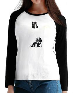 Owned By A Beagle T-Shirt - Raglan Long Sleeve-Womens