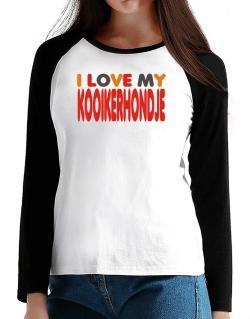 I Love My Kooikerhondje T-Shirt - Raglan Long Sleeve-Womens