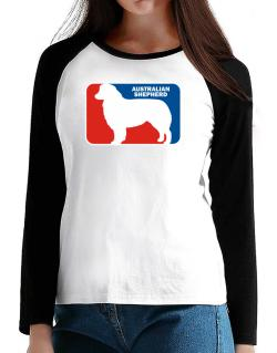 Australian Shepherd Sports Logo T-Shirt - Raglan Long Sleeve-Womens