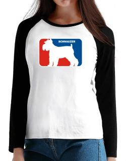 Schnauzer Sports Logo  T-Shirt - Raglan Long Sleeve-Womens
