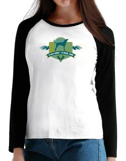 7dd3622b6762 English Coonhound To Err Is Human To Forgive Canine T-Shirt - Raglan Long  Sleeve