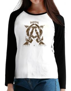 Weightlifting Alpha And Omega T-Shirt - Raglan Long Sleeve-Womens