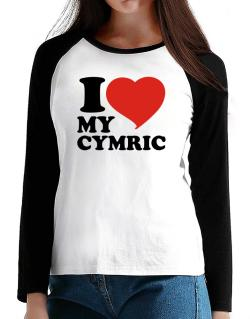 I Love My Cymric T-Shirt - Raglan Long Sleeve-Womens