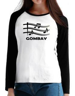 Gombay - Musical Notes T-Shirt - Raglan Long Sleeve-Womens