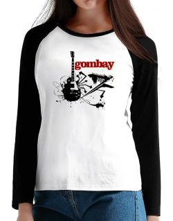 Gombay - Feel The Music T-Shirt - Raglan Long Sleeve-Womens