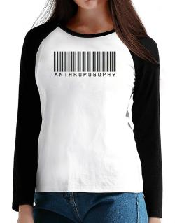 Anthroposophy - Barcode T-Shirt - Raglan Long Sleeve-Womens