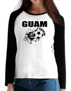 All Soccer Guam T-Shirt - Raglan Long Sleeve-Womens