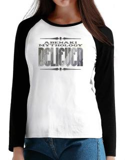 Abenaki Mythology Believer T-Shirt - Raglan Long Sleeve-Womens