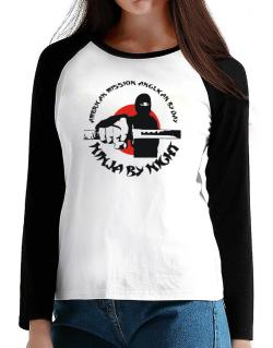 American Mission Anglican By Day, Ninja By Night T-Shirt - Raglan Long Sleeve-Womens