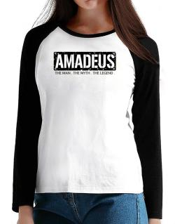 Amadeus : The Man - The Myth - The Legend T-Shirt - Raglan Long Sleeve-Womens