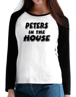 Peters In The House T-Shirt - Raglan Long Sleeve-Womens
