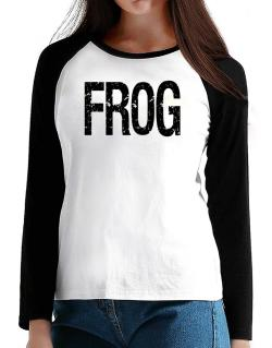 Frog - Vintage T-Shirt - Raglan Long Sleeve-Womens