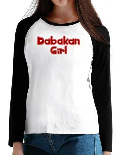 Dabakan Girl T-Shirt - Raglan Long Sleeve-Womens