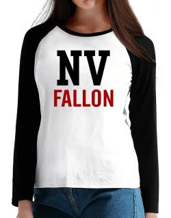 Fallon - Postal usa T-Shirt - Raglan Long Sleeve-Womens