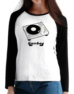 Retro Gombay - Music T-Shirt - Raglan Long Sleeve-Womens