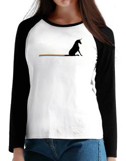 Unicorn Rainbow Poop T-Shirt - Raglan Long Sleeve-Womens