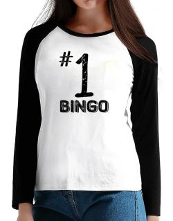 Number 1 Bingo T-Shirt - Raglan Long Sleeve-Womens