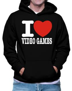 Polera Con Capucha de I Love Video Games
