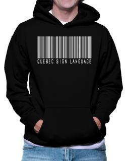 Quebec Sign Language Barcode Hoodie