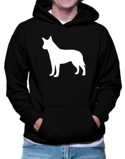 Australian Cattle Dog Silhouette Embroidery Hoodie