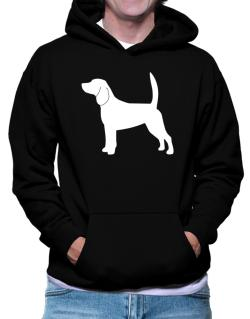 Beagle Silhouette Embroidery Hoodie