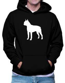 Boston Terrier Silhouette Embroidery Hoodie