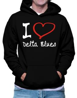 I Love Delta Blues Hoodie