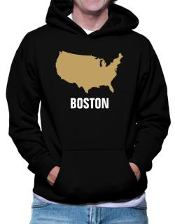 Boston - Usa Map Hoodie