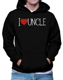 I love Auncle cool style Hoodie