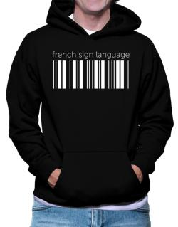 French Sign Language barcode Hoodie