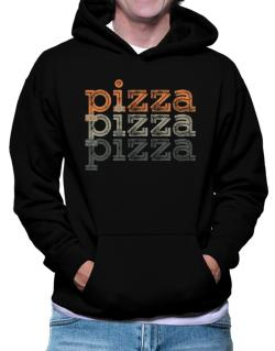 Pizza repeat retro Hoodie
