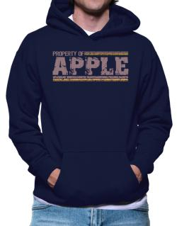 Property Of Apple - Vintage Hoodie