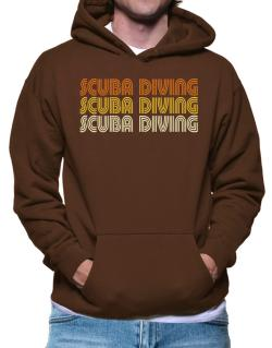 Scuba Diving Retro Color Hoodie