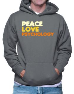 Peace Love Psychology Hoodie
