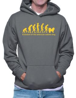 Evolution Of The American Eskimo Dog Hoodie